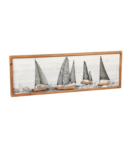 Sail Boat Wood and Metal Wall Décor