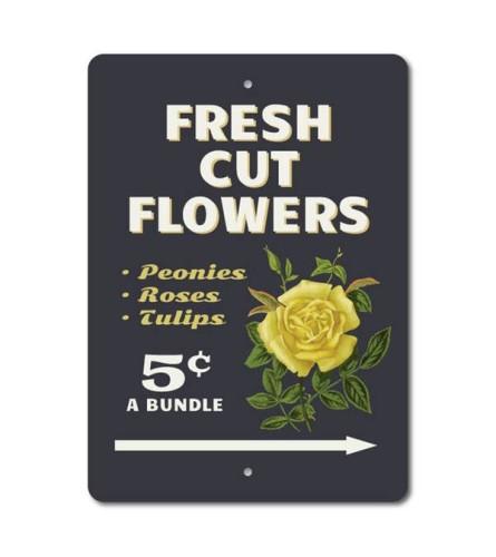Fresh Cut Flower Sign