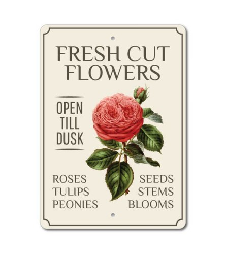 Rose Fresh Cut Flowers Sign