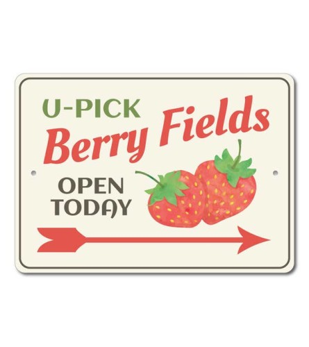 U Pick Berries Sign