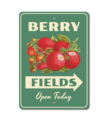Berry Fields Sign