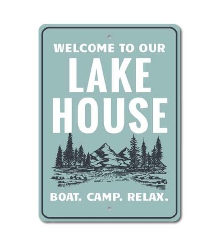 Lake Scene Sign