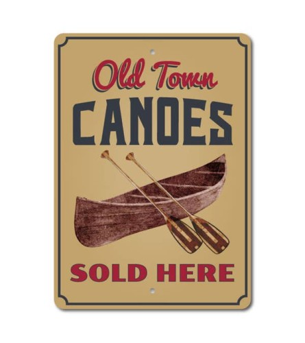 Old Town Canoe Sign