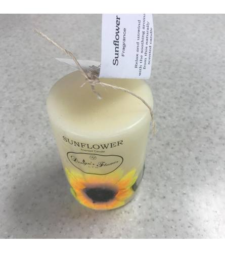 Sunflower Scented Candle (Individual or Set)