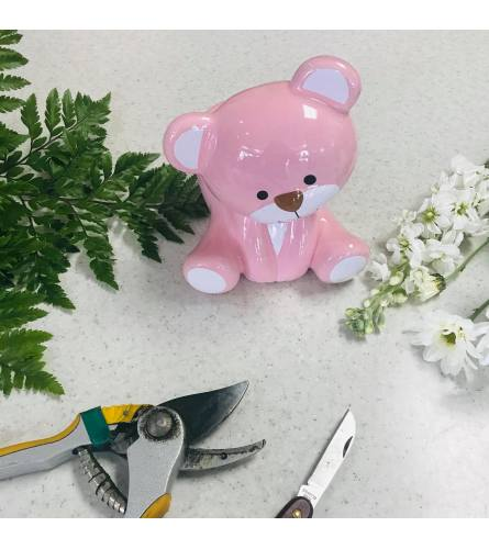 Designer's Choice in Pink Ceramic Baby Bear