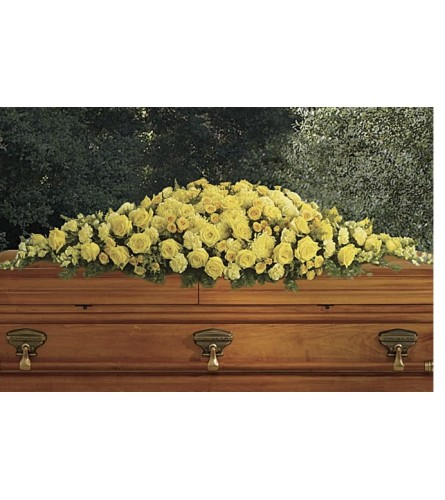 All Yellow Full couch casket spray