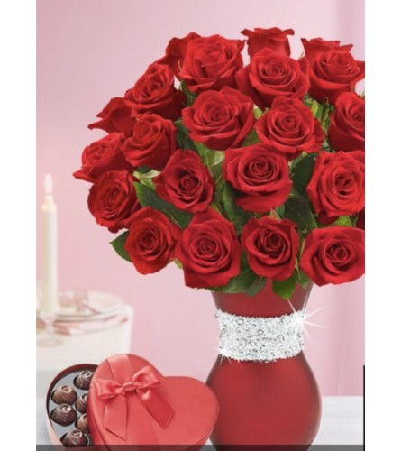 Blinging - Red Rose Bouquet
