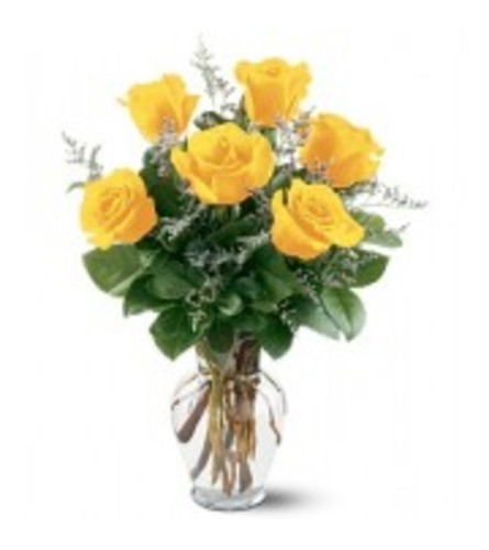 Less than a yellow dozen roses