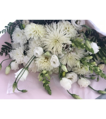 Florist Choice Hand-tied Bouquet All White