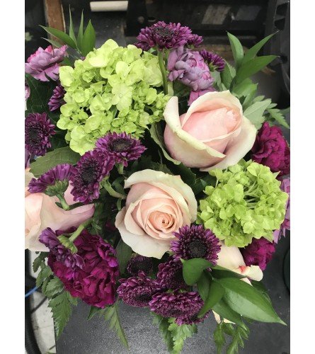 Florist Choice Hand-tied Bouquet Purple
