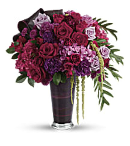 Teleflora's Cascading Romance (with Roses)