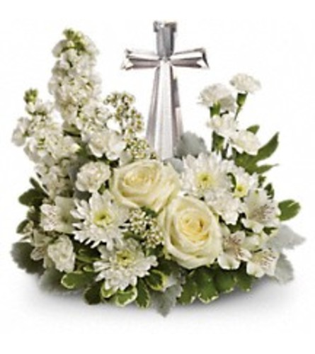 Teleflora's Divine Peace Bouquet (with cross)