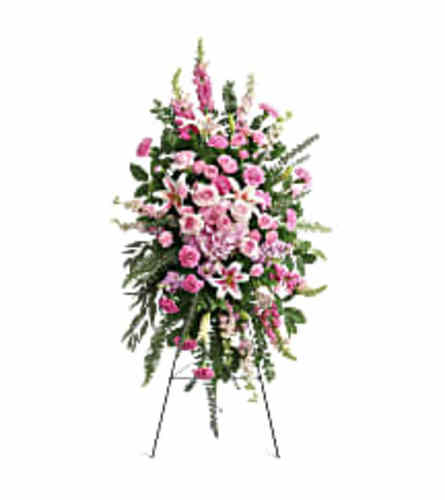 Teleflora's Glorious Farewell Spray (with hydrangea)