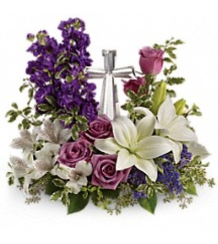 Teleflora's Grace And Majesty Bouquet (with cross)