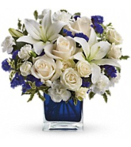 Teleflora's Sapphire Skies (with roses)