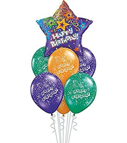 Purple Star Happy Birthday Balloon Bouquet