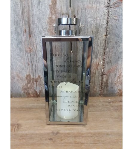 Lantern Silver (small)  'Those We Love'