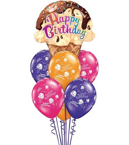 Happy Birthday Ice Cream Cone Bouquet