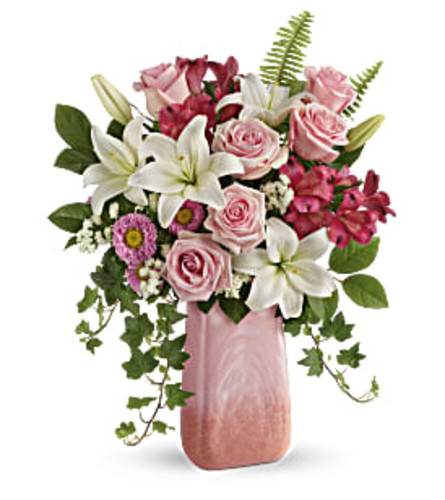 Pink n Peach Paradise Mother's Day Bouquet