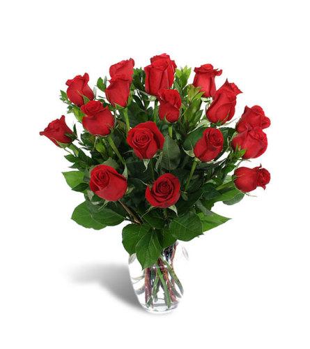 18 Long Stem Red Roses DW