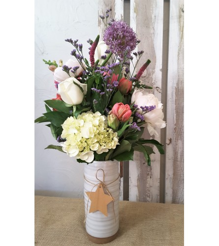 Meg White Vase Arrangement