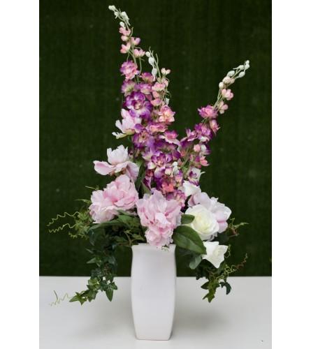Glam Garden Silk Floral Arrangement (Artificial Flowers)