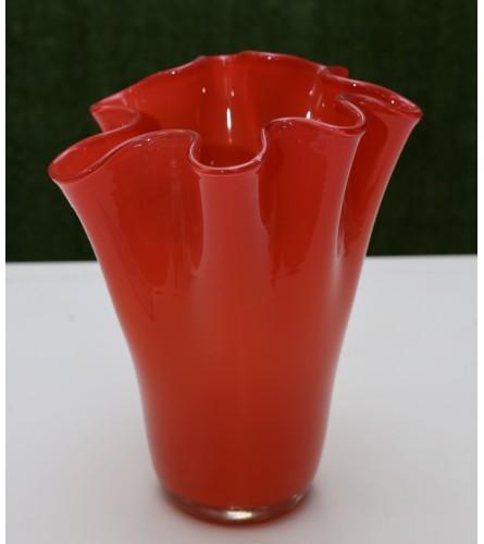 European Hand Blown Vase - Fire
