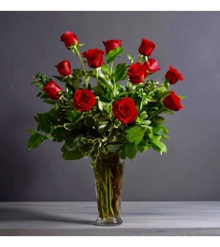 Forever My Valentine Dozen Red Roses