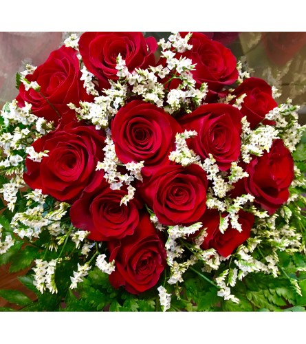 Dozen Roses Red Bouquet