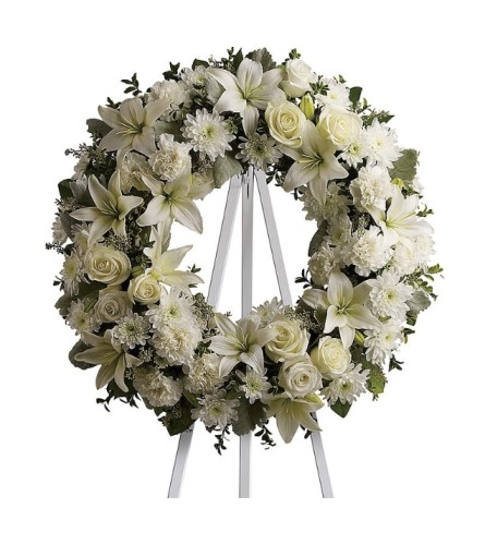Sympathy Wreath (Please call to request color preference)