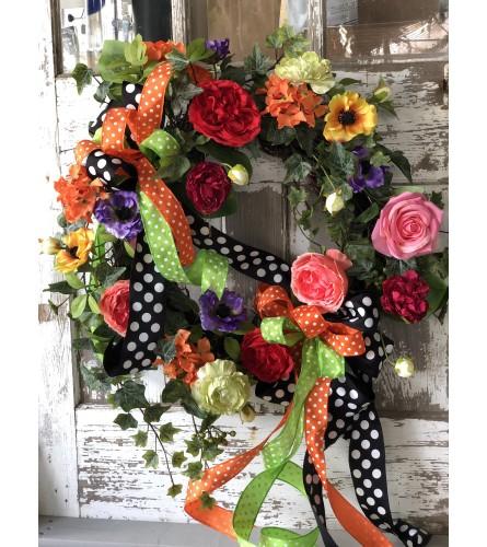 Burst of Color Wreath