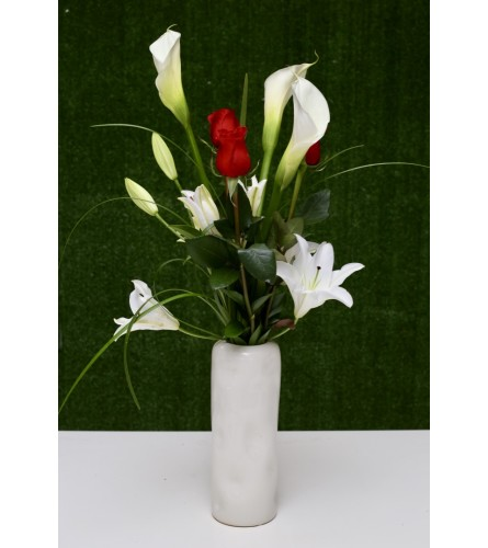 Elegant Floral Wonder in a Ceramic Vase