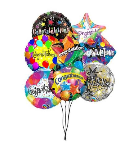 Congratulations and Graduation mix balloons