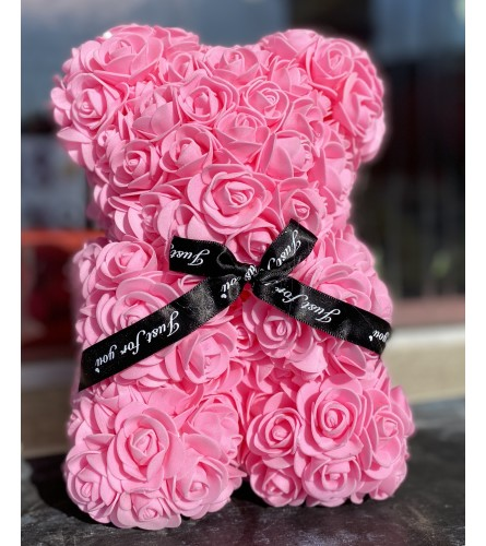 Forever Rose Teddy In Pink