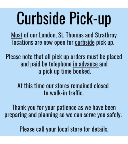 Curbside Pick-up by Appointment