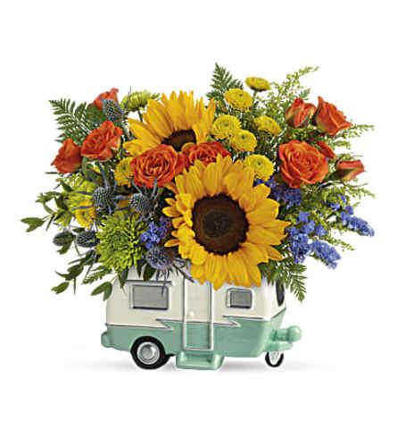 Retro Road Tripper Trailer Bouquet