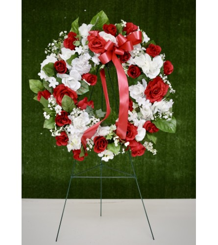 Artificial Floral Wreath for Cemetery