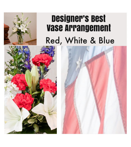 Patriotic Mix-Large Vase Arrangement