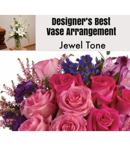 Jewel Tone-Large Vase Arrangement