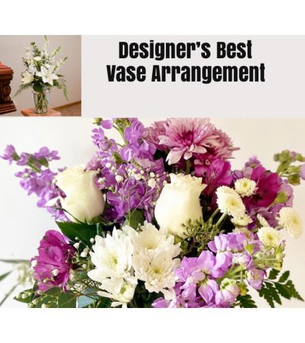 Lavender/Purple Mix-Large Vase Arrangment