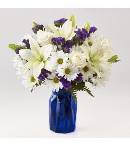 The FTD Beyond Blue Vase