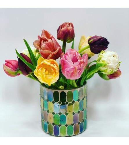 Perfect Mosaic Tulips