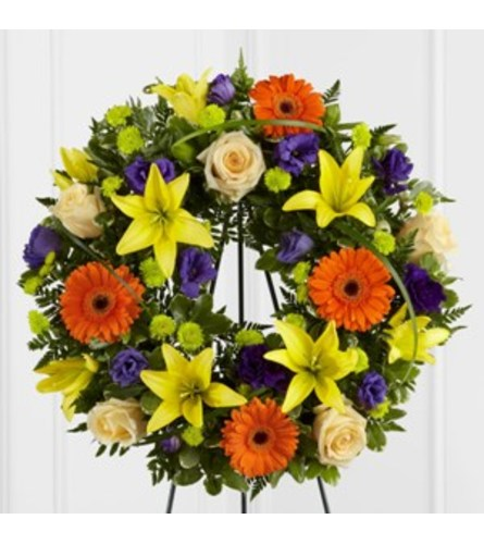 Radiant Remembrance Standing Wreath