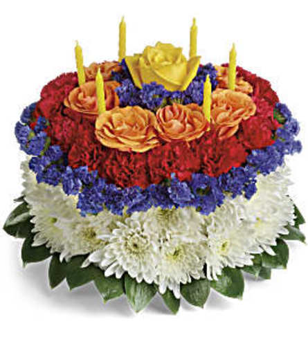 Your Wish is Granted Floral Birthday Cake