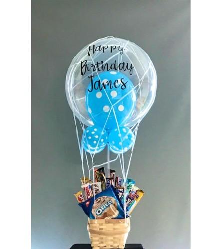 Hot Air Balloon Chocolate Gift Basket