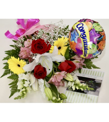 Graduation Garden Floral Bouquet Bundle