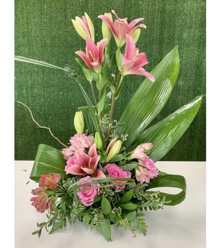 Blushing Pink Floral Elegance Arrangement