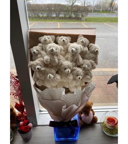 Long Presentation Teddy Bear Bouquet 1