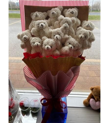 Long Presentation Teddy Bear Bouquet 2