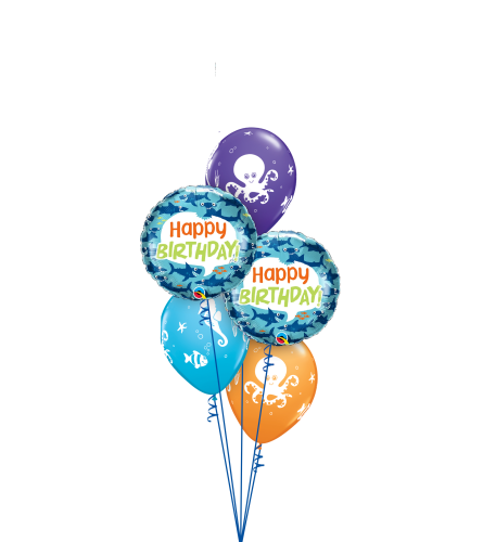 Wishing You a Fin-tastic Birthday Classic Balloon Bouquet